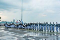 A demonstração tailandesa da marinha extravagante fura dentro a frota internacional Revie Foto de Stock