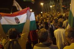 Demonstrações políticas em Hungria 2006 foto de stock