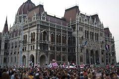 Demonstrações políticas em Hungria 2006 fotografia de stock
