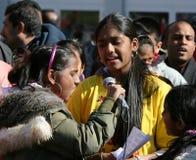 demonstraci dziewczyn tamil fotografia stock