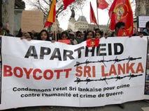 demonstraci France lanka Paris sri Zdjęcia Royalty Free