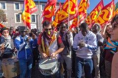 Demonstraci i protestów imigranci Obrazy Stock
