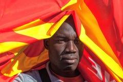 Demonstraci i protestów imigranci Zdjęcia Stock