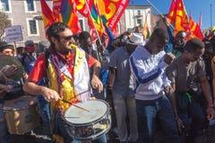 Demonstraci i protestów imigranci Obrazy Royalty Free