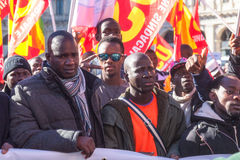Demonstraci i protestów imigranci Obraz Stock
