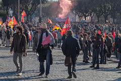 Demonstraci i protestów imigranci Fotografia Royalty Free