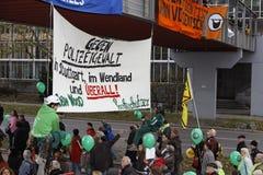 demonstraci k21 rudzika Stuttgart drewno Zdjęcia Stock