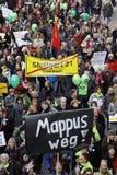 demonstraci mappus k21 Stuttgart Fotografia Stock
