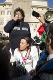 Demonstraci trzęsienia ziemi centrala Włochy Fotografia Royalty Free