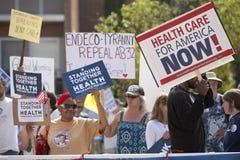 demonstracj zdrowie reformują ucl Zdjęcia Royalty Free