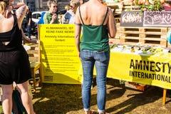 Demonstracja Amnesty International obraz stock