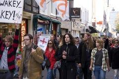 demonstracja Hague zajmuje Fotografia Royalty Free