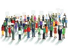 Demonstracja i opinie royalty ilustracja