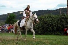 demonstracja jeździec robi Zdjęcia Stock