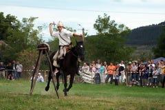 demonstracja jeździec robi Zdjęcie Stock