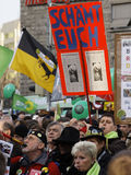 demonstracja k21 Stuttgart Zdjęcie Royalty Free