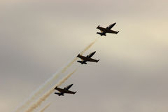 Demonstracja lot militarni piloci Obrazy Stock