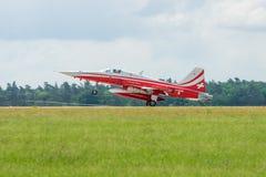 Demonstracja lota aerobatic drużyna Szwajcarski Patrouille Suisse Zdjęcia Royalty Free