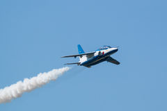 Demonstracja loty Błękitny bodziec Zdjęcie Stock