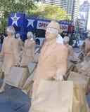 Demonstracja niewidomy konsumeryzm Fotografia Royalty Free