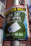 Demonstracja w Dublin wewnątrz na 21 (Irlandia) 03 2015 Fotografia Stock