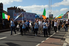 Demonstracja w Dublin wewnątrz na 21 (Irlandia) 03 2015 Zdjęcie Royalty Free