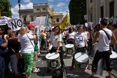 Demonstracja w imieniu państwowej służby zdrowia 12 zdjęcia royalty free