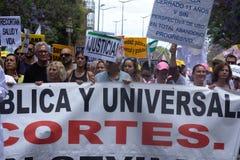 Demonstracja w imieniu państwowej służby zdrowia 51 Obraz Royalty Free