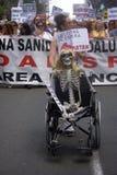 Demonstracja w imieniu państwowej służby zdrowia 55 Zdjęcia Royalty Free
