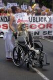 Demonstracja w imieniu państwowej służby zdrowia 56 Zdjęcia Royalty Free