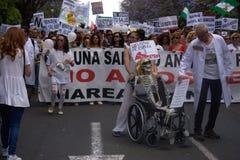 Demonstracja w imieniu państwowej służby zdrowia 57 Obraz Stock