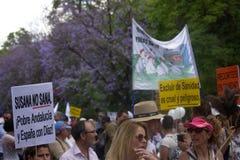 Demonstracja w imieniu państwowej służby zdrowia 58 Obraz Stock