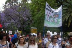 Demonstracja w imieniu państwowej służby zdrowia 59 Fotografia Stock