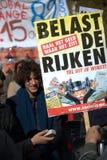 Demonstracja znak Obrazy Royalty Free