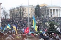 Demonstracje przy niezależność kwadratem w Ukraina Obraz Stock