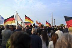 Demonstracji niemiec chorągwianego strajka federacyjny chorągwiany patriotyzm obrazy stock
