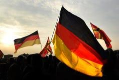 Demonstracji niemiec chorągwianego strajka federacyjny chorągwiany patriotyzm fotografia stock