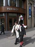 Demonstradores contra a mesma união do sexo Fotografia de Stock
