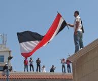 Demonstradores dos egípcios que chamam para a reforma Imagens de Stock Royalty Free