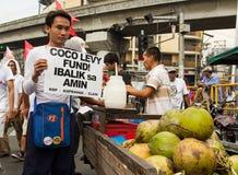Demonstranci maszeruje w Manila zdjęcie stock