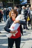 Demonstranci protestuje przeciw Tureckiemu prezydentowi Erdogan polic Zdjęcia Royalty Free