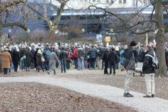 Demonstranci przeciw Stuttgart 21 Obraz Stock