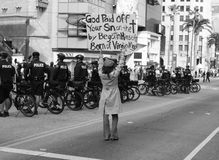 demonstrant lonsome Zdjęcie Stock