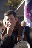 demonstranta mówienie Zdjęcie Royalty Free