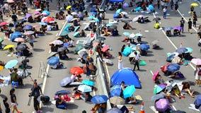 Demonstrantdistanzhülse bei Admiralität, Hong Kong Stockbild