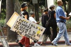 Demonstranten Trayvon Martin Lizenzfreie Stockfotografie