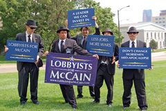 demonstranter Royaltyfria Bilder