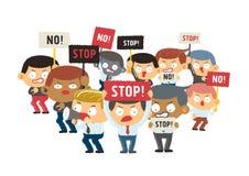 Demonstrantkonzept Stockfoto