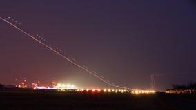 Demonstração aérea de Nigth Imagens de Stock