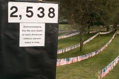 Demonstração da guerra de Iraque Foto de Stock